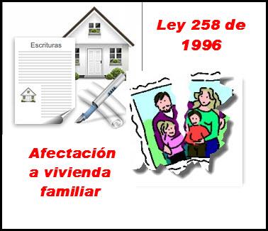 Ley 258 de 1996 en colombia,Afectación a vivienda familiar