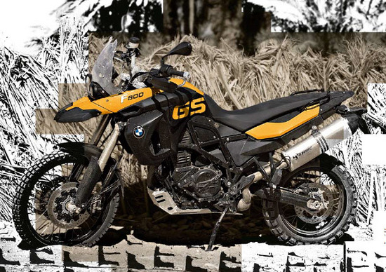 bmw 800 f gs color amarilla