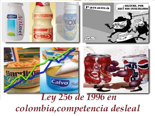 ley 256 de 1995 en colombia,competencia desleal