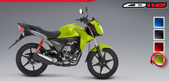 Colores de la Honda CB 110, verde