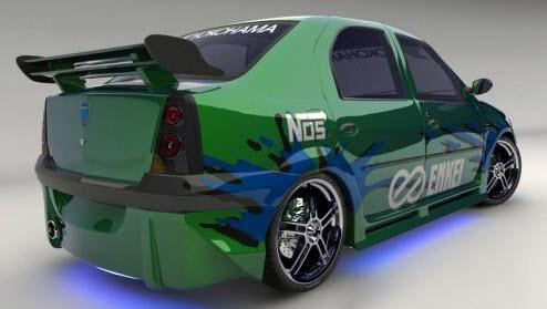 Carros Tuning, verde