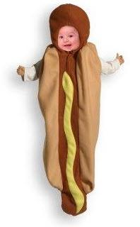 Disfraces para bebe perro  sanduchero