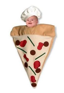 Disfraces para bebe pizza