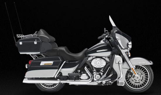 Harley Davidson Electra Glide Ultra Limited, gris-negro