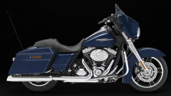 Harley Davidson Street Glide, azul