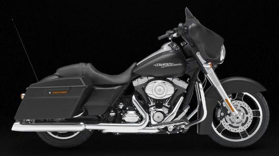 Harley Davidson Street Glide, negro - mate
