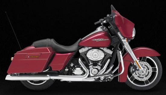 Harley Davidson Street Glide, rojo
