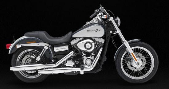 Harley Davidson Super Glide Custom, gris - negro