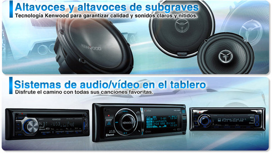 Kenwood Car Audio, productos