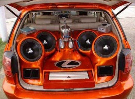 Lujos para Carros, Equipos de sonido