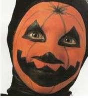 Maquillaje de calabaza para disfraz de Halloween para niños