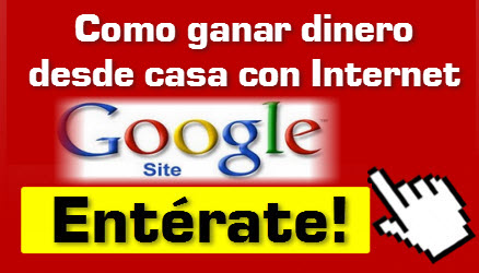 Como ganar dinero con internet usando Google Sites