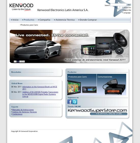 Vista de www.kenwood.com.pa | Pagina Web o Home