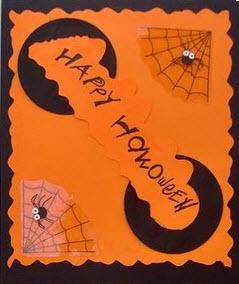 Tarjetas Halloween araña