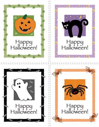 Tarjetas Halloween calabaza, araña