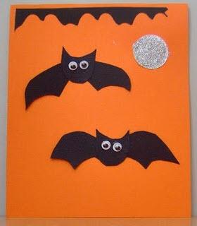 Tarjetas  Halloween murcielagos