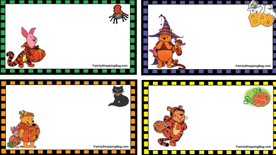 Tarjetas Halloween  winnie the pood