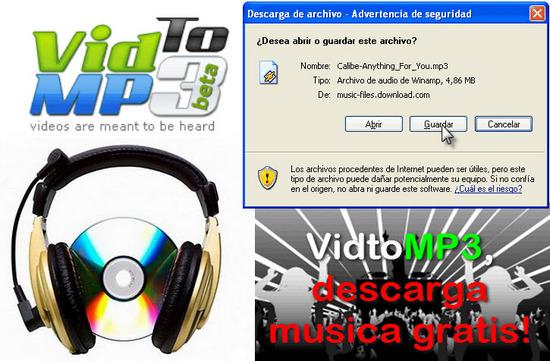 VidtoMP3, descarga musica gratis!