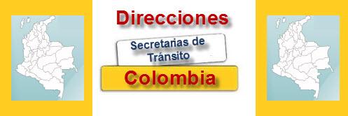 direcciones de las secretarías de  transito en colombia