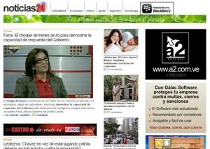Sitio Web www.noticias24.com | Página inicial o Home