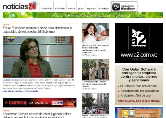 Sitio Web www noticias24 com