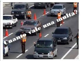 Precios de las multas a conductores