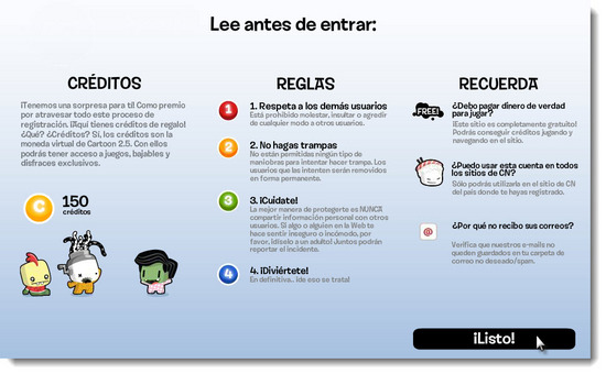 Cartoon Network.com Paso 4 Registrarse