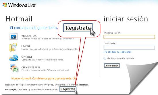 Como registrarse en hotmail.com paso 1
