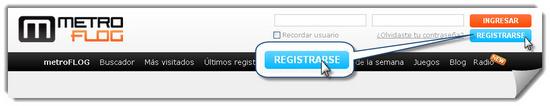 MetroFLOG, registrarse paso 1
