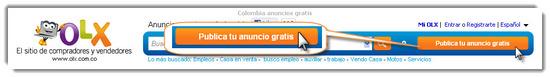 Olx Colombia publicar anuncio