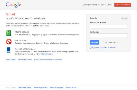 Vista de www.accounts.google.com | Pagina web o Home