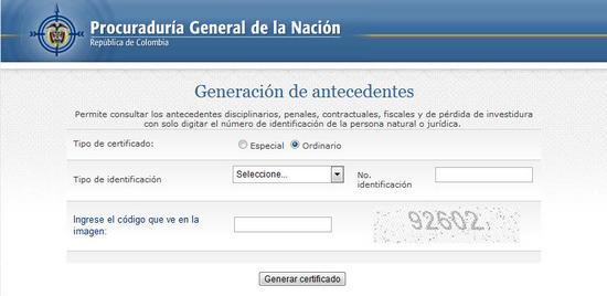 Ver o descargar antecedentes disciplinarios en Colombia