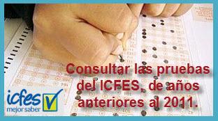 Consultar Pruebas ICFES años anteriores al 2011