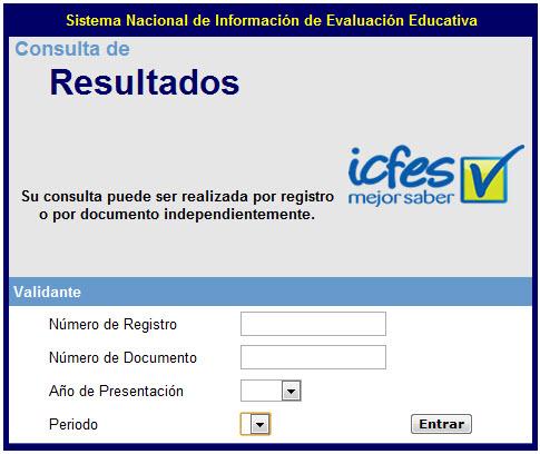 Consultar pruebas del ICFES, de años anteriores al 2011
