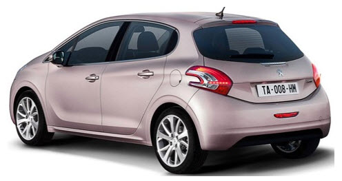Peugeot 208 2012, parte trasera