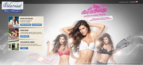 Vista de www.leonisa.com | Pagina Web o Home