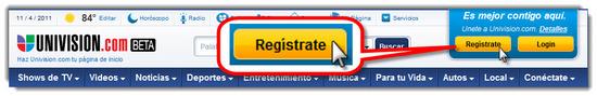 Univision registrarse 1