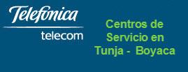 Oficinas y centros de servicio de Telefonica Telecom, ciudad: Tunja Boyaca – Colombia