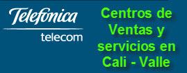 Oficinas y centros de servicio de Telefonica Telecom, ciudad: Cali Valle – Colombia