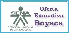 OFERTA EDUCATIVA DEL SENA PARA EL 2012 EN BOYACA