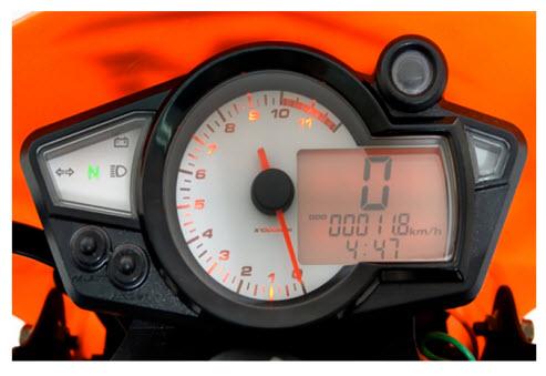AKT AK 180XM 2012, velocímetro digital