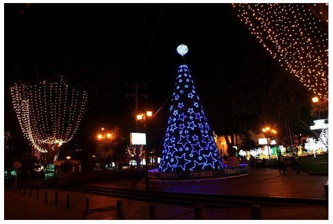 Alumbrado de Bogota 2011, plaza de bolívar