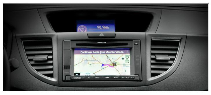 Honda CR-V 2012, sistema navi