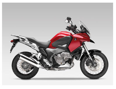 Honda Crosstourer 2012, color rojo candy prominencia
