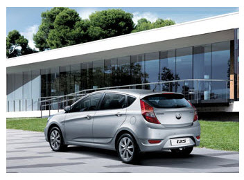 Hyundai i25 Hatchback , diseño exterior