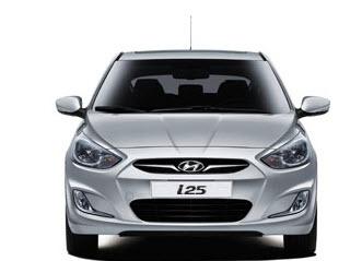 Hyundai i25 Hatchback, parte frontal