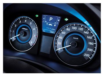 Hyundai i25 Hatchback, tacometro
