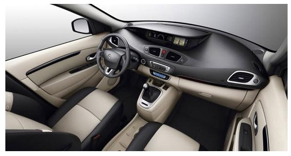 Renault Scenic 2012,  diseño interior
