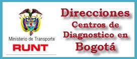 Direcciones de Centros de Diagnosticos ó CDA en Bogotá
