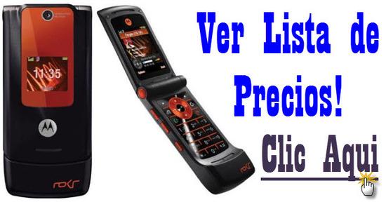listado de ofertas de Motorola W5
